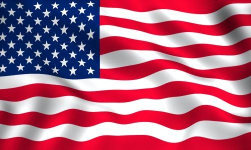 American flag waving for USA